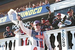 Blaney Scores Popular First Cup Victory At Pocono