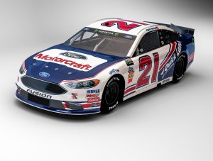White Ford Fusion >> Wood Brothers Choose Kyle Petty's 1987 Ford Thunderbird ...