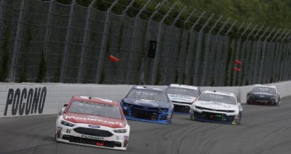 Menard Rebounds From Pit Penalty To Finish 11th At Pocono.