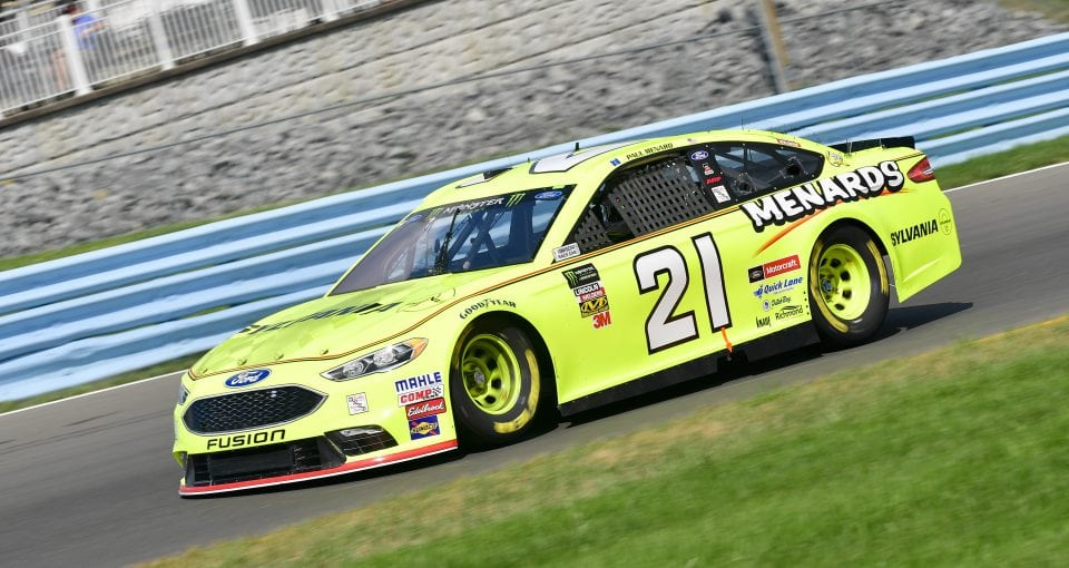 #21: Paul Menard, Wood Brothers Racing, Ford Fusion Menards / Sylvania