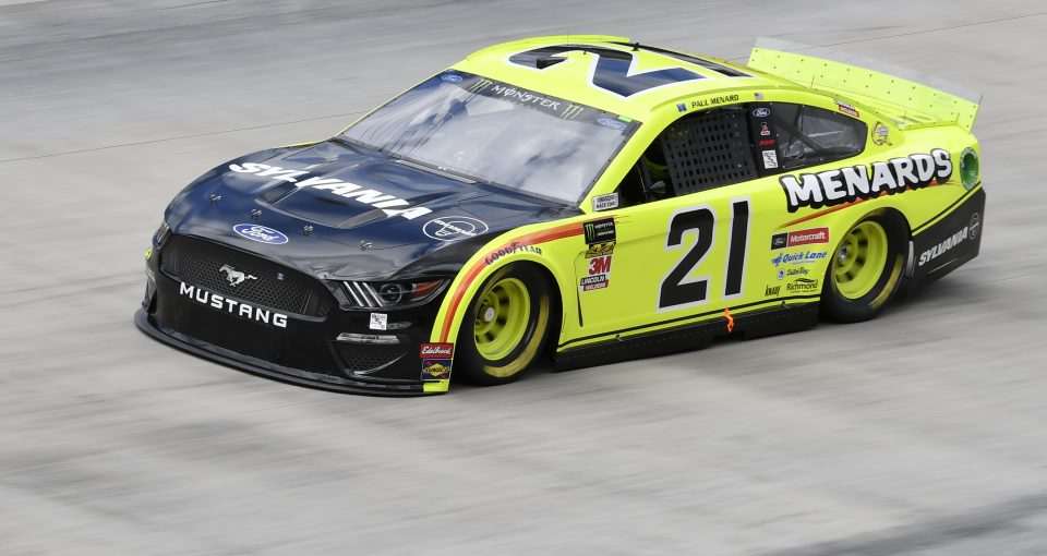#21: Paul Menard, Wood Brothers Racing, Ford Mustang Menards / Sylvania