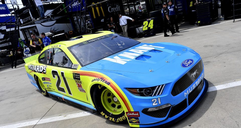 #21: Paul Menard, Wood Brothers Racing, Ford Mustang Menards / Knauf