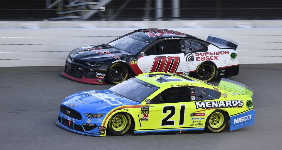 #21: Paul Menard, Wood Brothers Racing, Ford Mustang Menards / NIBCO
