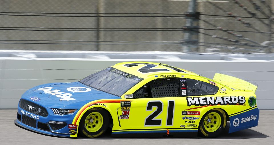 #21: Paul Menard, Wood Brothers Racing, Ford Mustang Menards / Dutch Boy