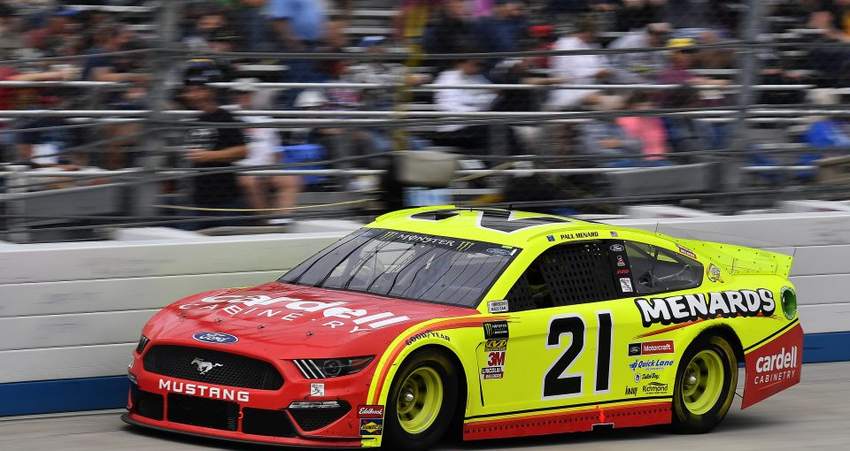 #21: Paul Menard, Wood Brothers Racing, Ford Mustang Menards / Cardell Cabinets
