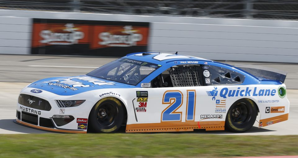 #21: Paul Menard, Wood Brothers Racing, Ford Mustang Quick Lane Tire & Auto Center