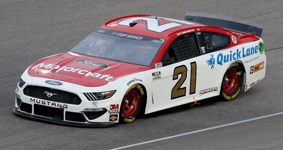 HOMESTEAD, FLORIDA - JUNE 14: Matt DiBenedetto, driver of the #21 Motorcraft/Quick Lane Ford, races during the NASCAR Cup Series Dixie Vodka 400 at Homestead-Miami Speedway on June 14, 2020 in Homestead, Florida. (Photo by Chris Graythen/Getty Images) | Getty Images