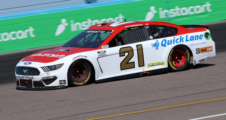 AVONDALE, ARIZONA - MARCH 14: Matt DiBenedetto, driver of the #21 Motorcraft/Quick Lane Ford, drives during the NASCAR Cup Series Instacart 500 at Phoenix Raceway on March 14, 2021 in Avondale, Arizona. (Photo by Sean Gardner/Getty Images) | Getty Images