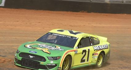 DiBenedetto Puts Menards Mustang Through The Paces On Dusty, Slick Bristol Track