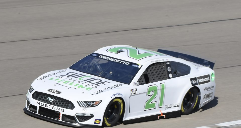 #21: Matt DiBenedetto, Wood Brothers Racing, Ford Mustang Suicide Prevention Lifeline